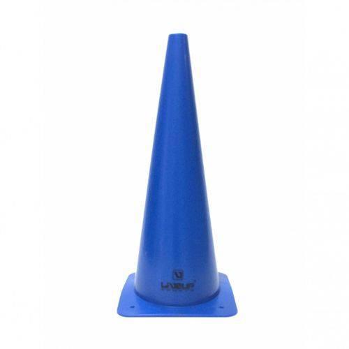 5 Cones de Agilidade Treino Funcional 48cm Azul Liveup