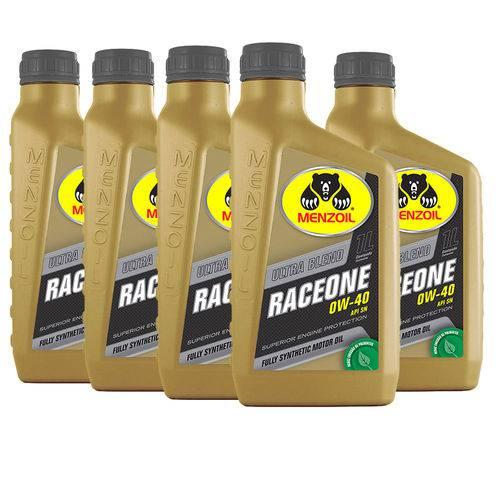 5 Litros Oleo de Motor 0w40 Sn Sintetico Race One Kit412
