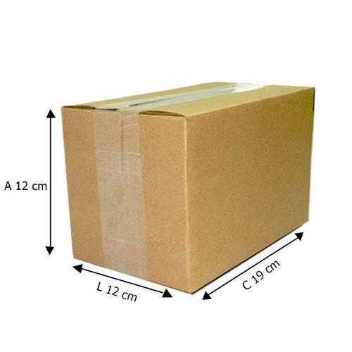 50 Caixas de Papelão D3 - 19X12X12 Cm -correios Pac e Sedex