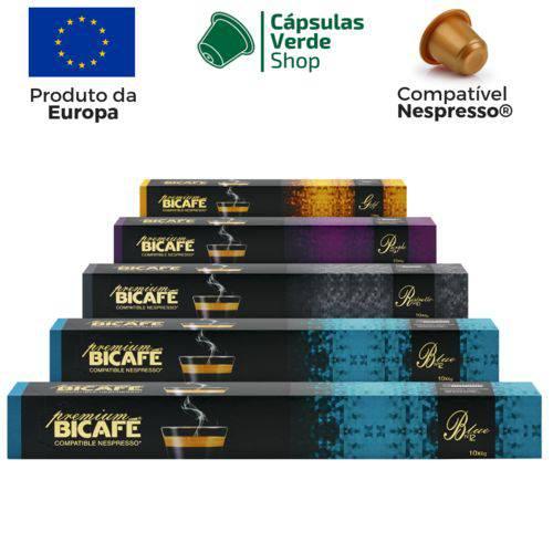 50 Cápsulas para Nespresso Kit Degustação Café Premium - Bicafé