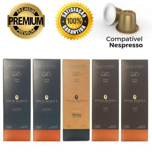 50 Cápsulas para Nespresso Kit Degustação Café - Santa Monica