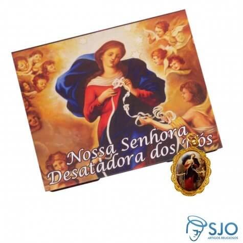 50 Cartões com Medalha de Nossa Senhora Desatadora dos Nós | SJO Artigos Religiosos