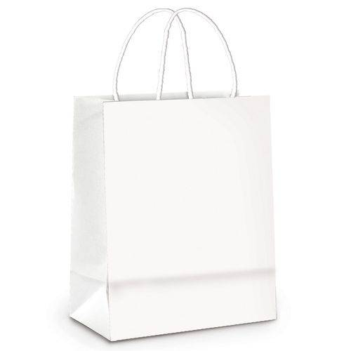 50 Sacolas Lembrancinhas Presentes Liso Branco Pqn Festa