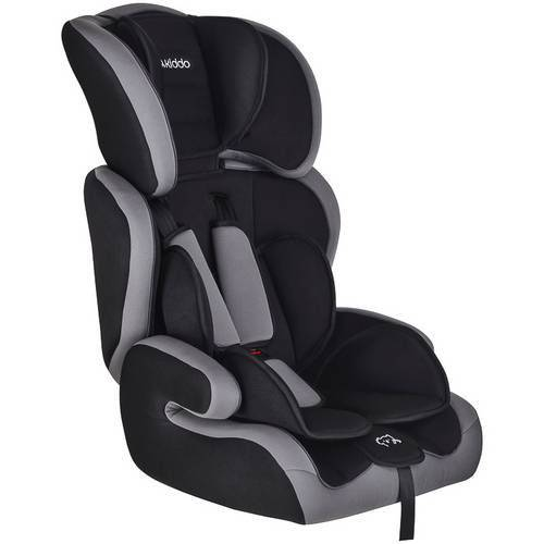 563 - Cadeira Auto Company Kiddo Preto e Cinza 9 a 36kg
