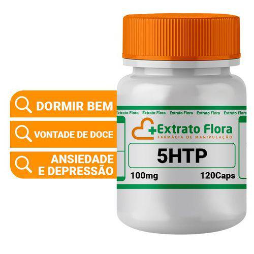 5htp (hidroxitriptofano) 100mg 120 Cápsulas