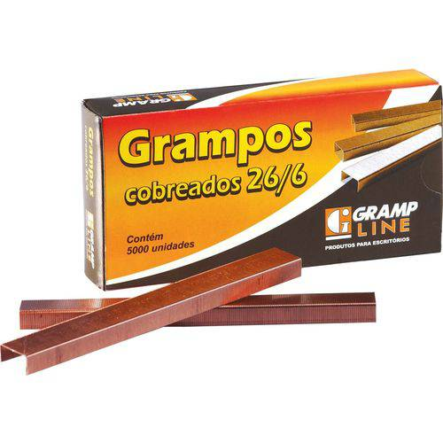 26/6 Cobreado 5000 Grampos (7898457740364)