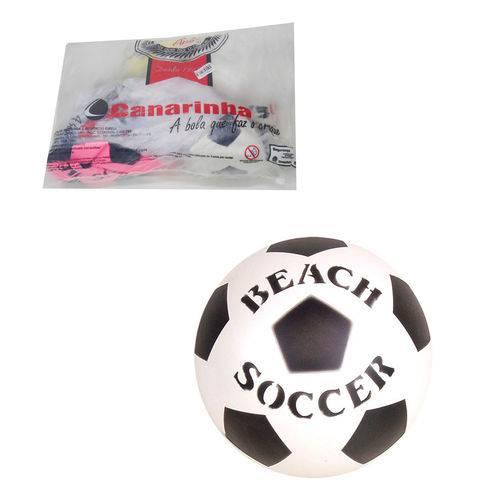 "6 Bolas Leve Beach Soccer 8"" Vazia"