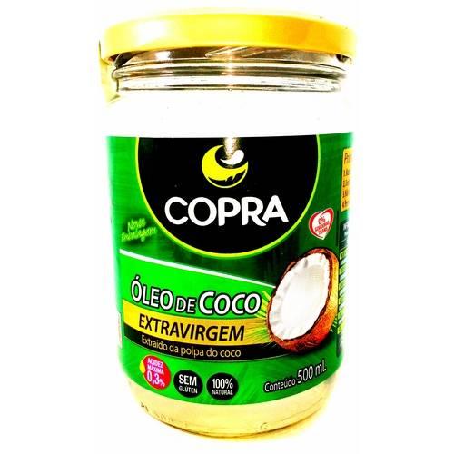 2 Vidros Óleo de Coco Extra-Virgem 500ml - Copra