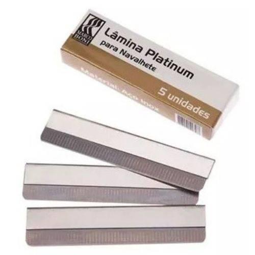 60 Lâminas Platinum Navalha Navalhete Aço Inox Marco Boni 9503B
