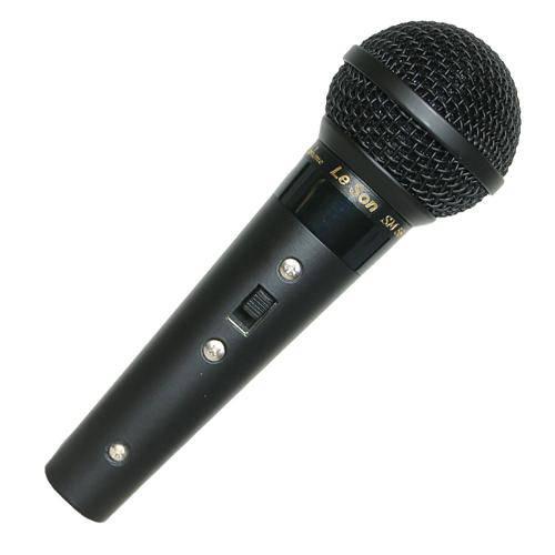 2621 Leson Microfone Sm-58 B Metal.Preto Brilhante Cabo 5mts.