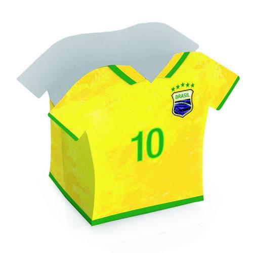 8 Cachepot Camisa 10 Vai Brasil 9X7,5X11,5Cm Dec. Festas
