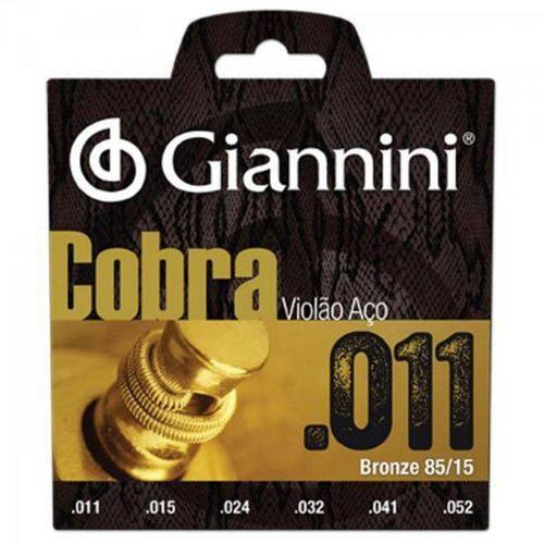 28839 Encordoamento para Violão Aço Cobra .011 Bronze Geeflk