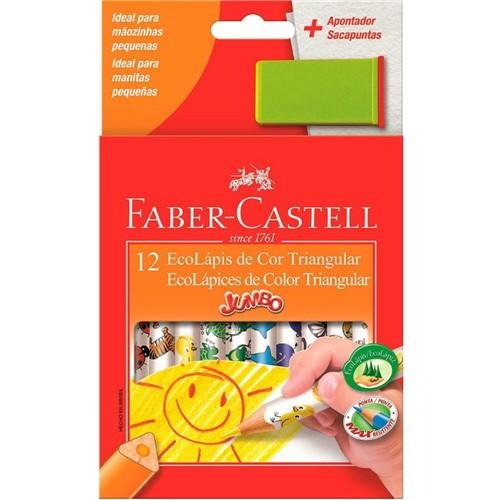 Lápis Cor com 12 Jumbo Triangular 123012AP-Faber Castell