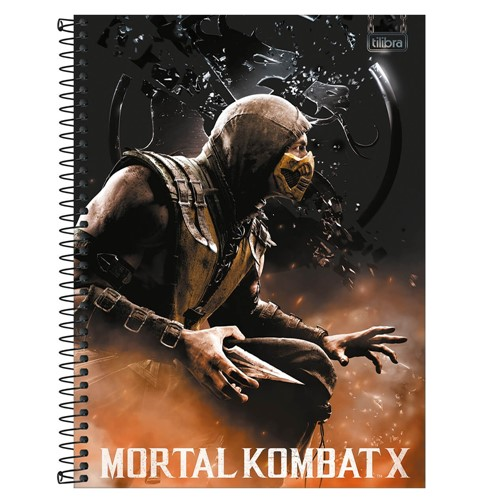 Caderno Mortal Kombat Espiral Universitário 16 Matérias 256 Folhas 293695-Tilibra