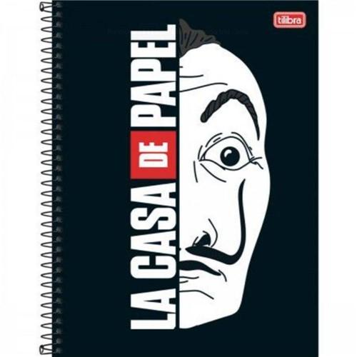 Caderno Universitário La Casa de Papel Capa Dura 1 Matéria 80 Folhas-Tilibra