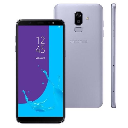 "Smartphone Samsung Galaxy J8, 64GB, Dual Chip, Android 8.0, Tela 6"", Octa-Core, 1.8GHz, 4G, Câmera 16MP, F1.7 + 5MP F1.9-Prata"