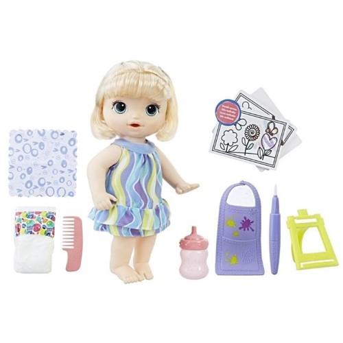 Boneca Baby Alive Pequena Artista Loira C0960-Hasbro