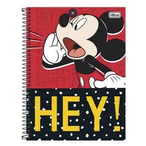Caderno Capa Dura Universitário Mickey 96 Folhas 149675-Tilibra