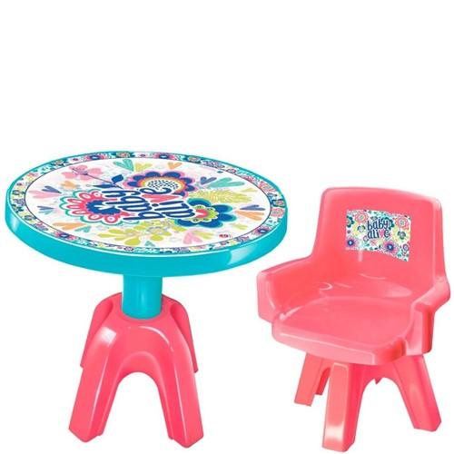 Mesa e Cadeira Baby Alive 2478 - Lider