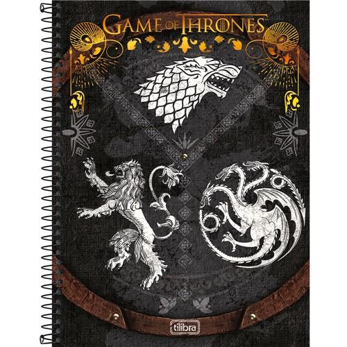 Caderno Espiral Universitário Game Of Thrones 10x1 200 Folhas 146650-Tilibra