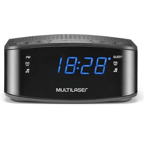 Rádio Relógio FM com Led Azul SP288-Multilaser