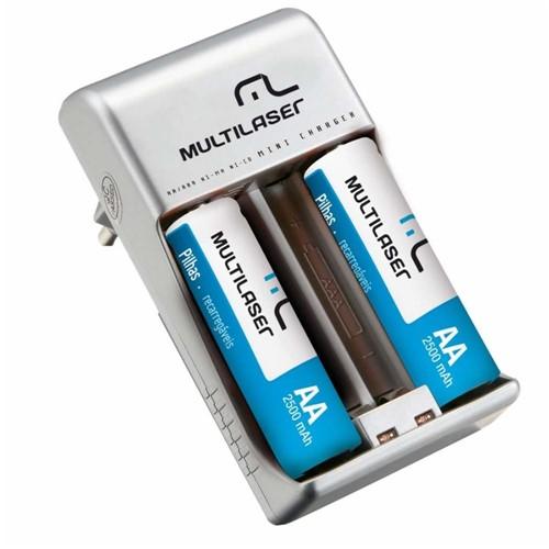 Carregador de Pilhas com 2 AA Bivolt CB048 - Multilaser