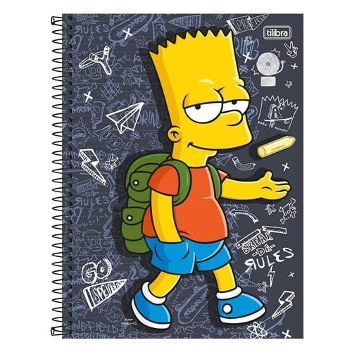 Caderno Capa Dura Universitário Simpsons 10 Matérias 200 Folhas 131130-Tilibra