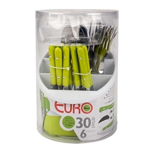Faqueiro Euro com Escorredor B11430 - 30 Peças
