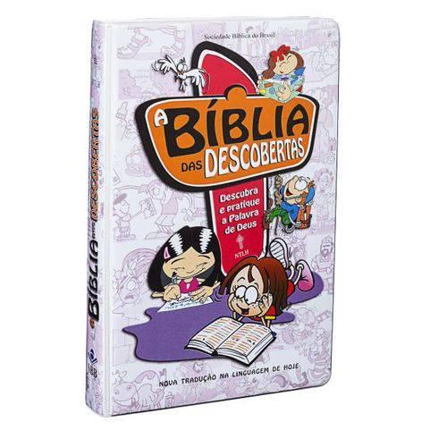 A Bíblia das Descobertas - Capa Dura Ilustrada Plastificada - Rosa