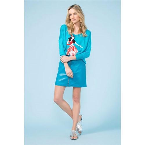 A.Brand | Mini Saia Zipper e Bolsos - Azul Waimea - 38