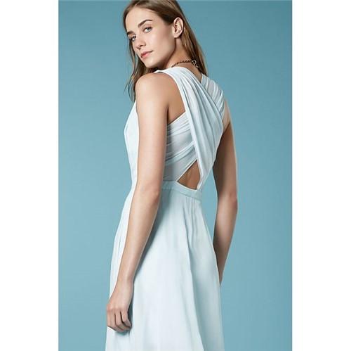A.Brand | Vestido Decote V Costas Cruzadas Azul Glacial