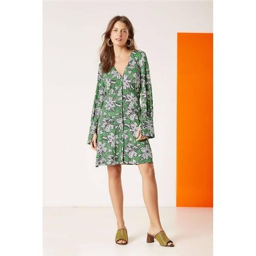 A.Brand | Vestido Jersey Floral Bicolor Est Floral Bicolor Verde - 34