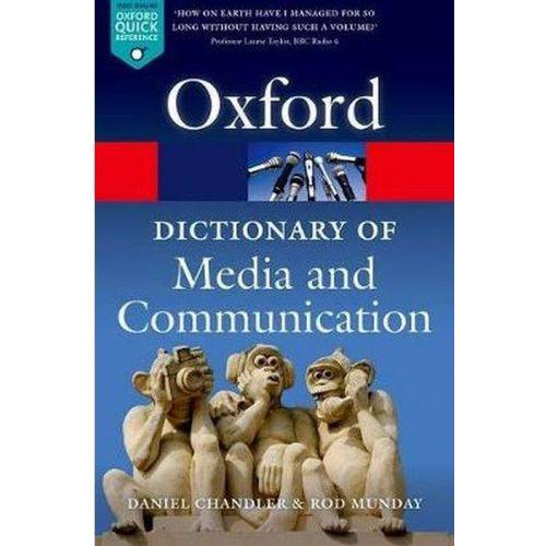 A Dictionary Of Media And Communication - Oxford University Press - Uk