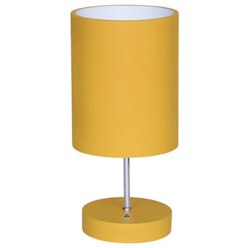 Abajur Cilindro Eletrônico 3214 Luminárias Müller - Amarelo