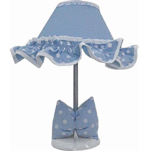 Abajur Cone 1 Peça Elegance Azul