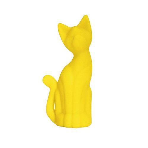 Abajur / Luminária Gatinho Amarelo Siamês