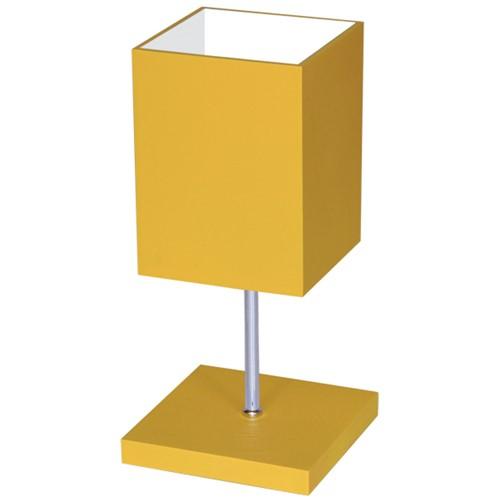 Abajur Quadratus Mini 312 Luminárias Müller - Amarelo
