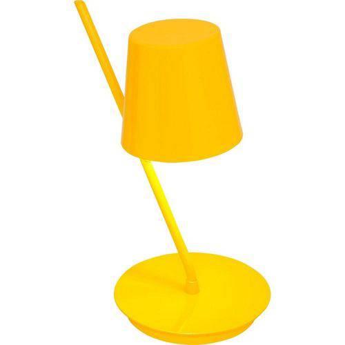 Abajur Vegga Beta Amarelo