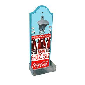Abridor de Garrafa de Parede Coca-Cola Engradado Garrafas Vintage
