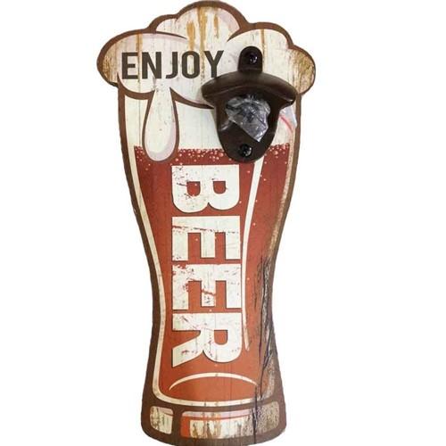 Abridor de Garrafa de Parede Enjoy Beer