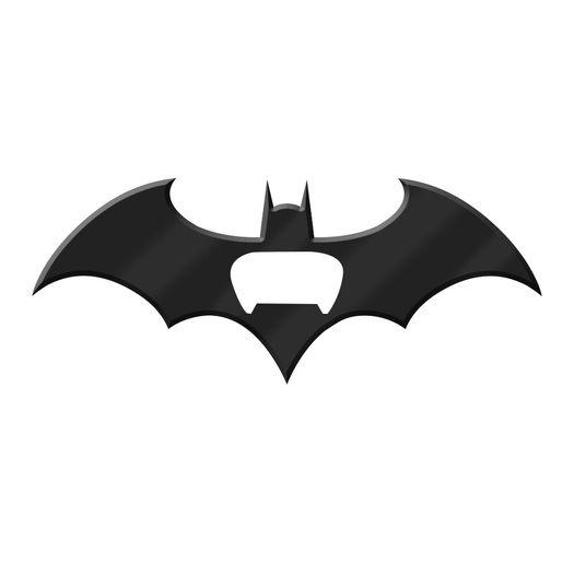 Abridor de Garrafa Metal Magnético Batman Bat Preto 41667 New Urban