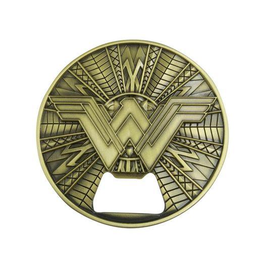 Abridor de Garrafa Metal Magnético Wonder Woman Logo 41668 New Urban
