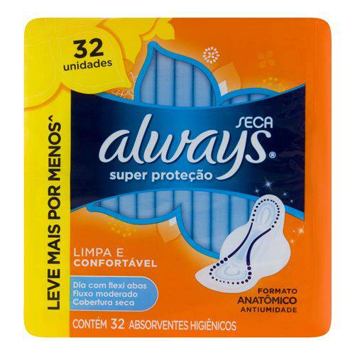 Abs C/ab Always Super Prot 32un-pc Seca