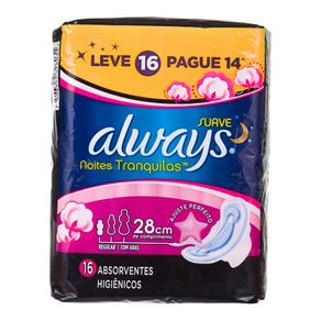 Absorvente Active Noturno com Abas Always Leve 16 Pague 14
