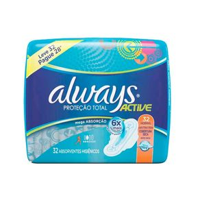 Absorvente Always Active Leve 32 Pague 28