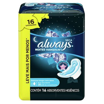 Absorvente Always Active Noturno com Abas Leve 16 Pague 14