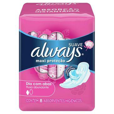 Absorvente Always Dia Pink com Abas Suave 8 Unidades