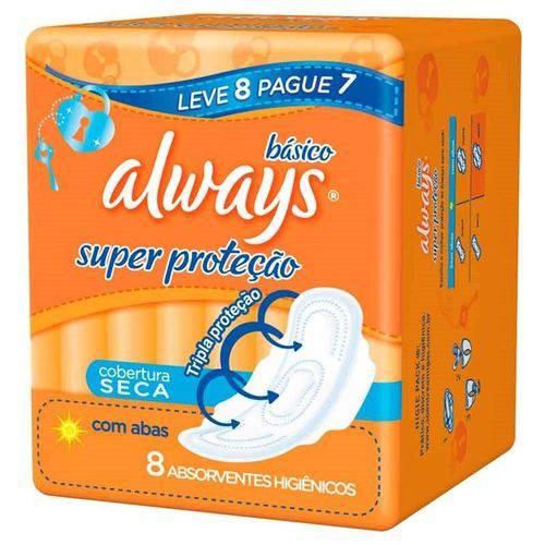 Absorvente Always Malha Seca com Abas Leve 8 Pague 7