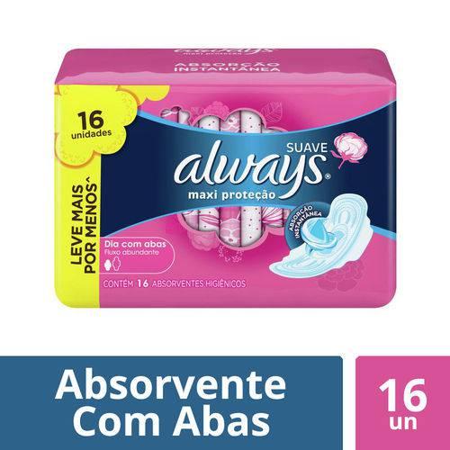 Absorvente Always Proteção Total Cobertura Suave com Abas 16