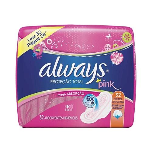 Absorvente Always Proteção Total com Abas Suave Leve 32 Pague 28